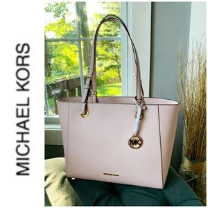 NWT authentic MK leather Walsh tote blossom